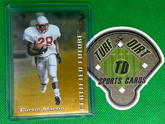 1995 Select Certified Future #10 Curtis Martin