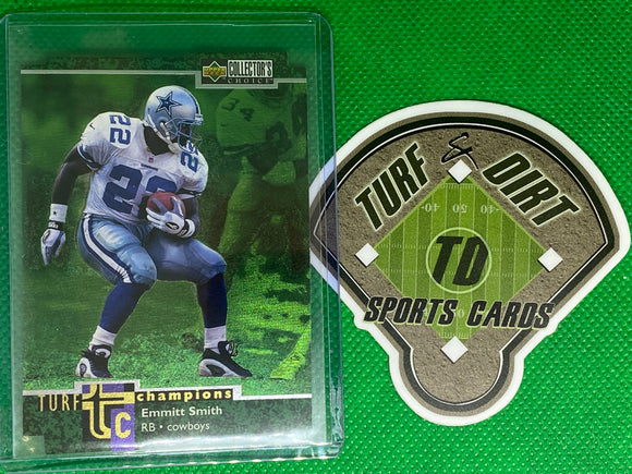 1997 Collector's Choice Turf Champions #TC61 Emmitt Smith