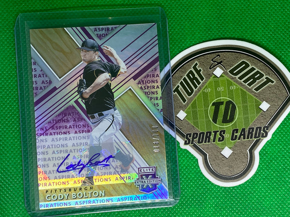 2019 Elite Extra Edition Autographs Aspirations Purple #151 Cody Bolton 18/100