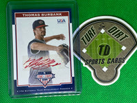 2017 USA Baseball Stars and Stripes 17U Signatures Red Ink #2 Thomas Burbank 3/10