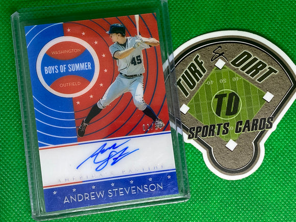 2019 Panini America's Pastime Boys of Summer Autographs Holo Silver #20 Andrew Stevenson 3/10