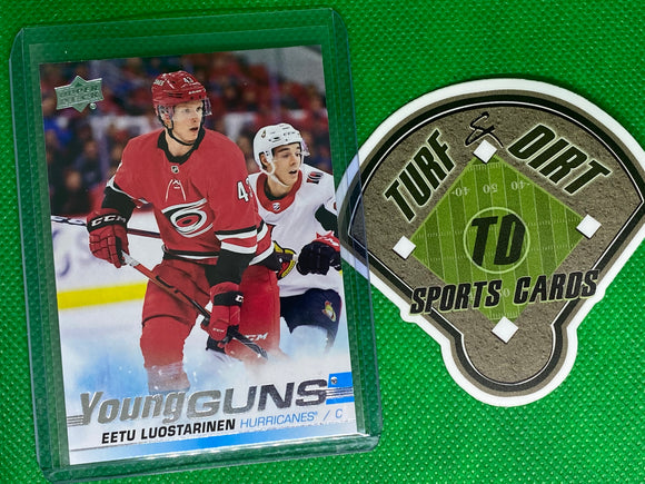 2019-20 Upper Deck #490 Eetu Luostarinen YG RC