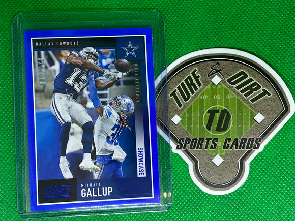 2020 Score Showcase Blue #165 Michael Gallup 26/100