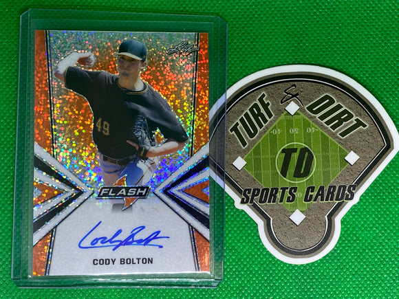 2019 Leaf Flash Orange #BACB3 Cody Bolton 8/10