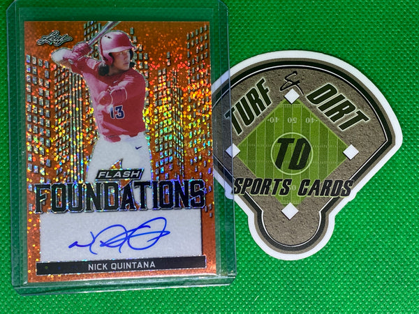 2019 Leaf Flash Foundations Orange #FF2NQ1 Nick Quintana 2/10