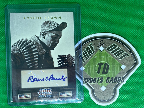 2012 Americana Heroes and Legends Autographs #106 Roscoe Brown 43/49