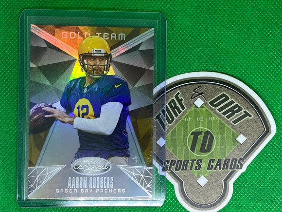 2015 Certified Gold Team #GT3 Aaron Rodgers