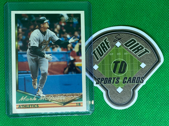 1994 Topps Gold #340 Mark McGwire