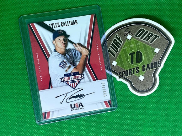 2019 USA Baseball Stars and Stripes 18U Signatures Black Ink #6 Tyler Callihan #288/499
