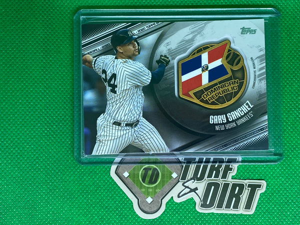 2020 Topps Global Game Medallions Black #GGMGS Gary Sanchez 117/149