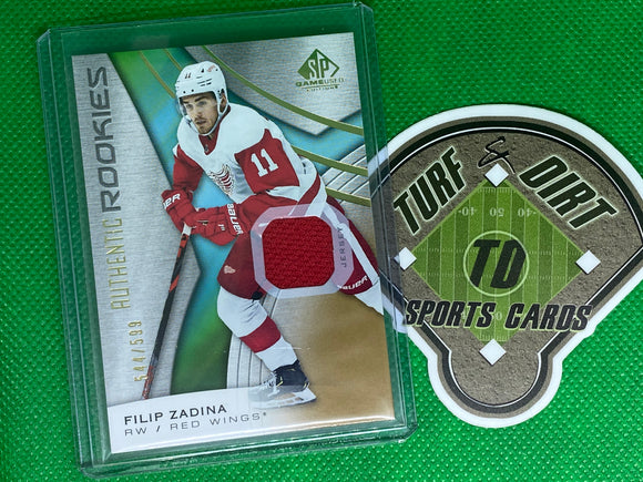 2019-20 SP Game Used Gold #138 Filip Zadina JSY 544/599