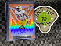 2020 Leaf Valiant Orange #BAKK1 Khalid Kareem #3/50