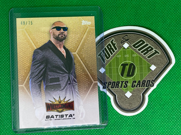 2019 Topps On-Demand WWE WrestleMania 35 Batista 49/75