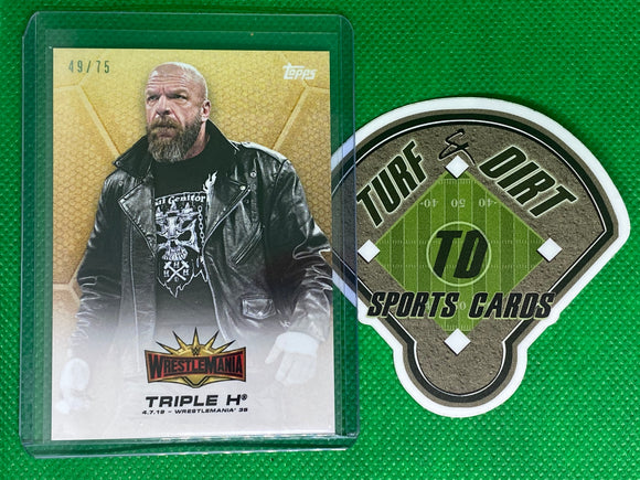2019 Topps On-Demand WWE WrestleMania 35 #9 Triple H 49/75