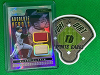 2020 Absolute Absolute Heroes Materials Spectrum Purple #1 Barry Larkin 17/25