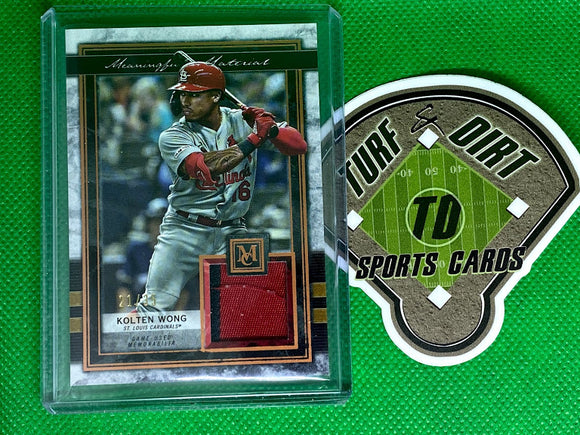 2020 Topps Museum Collection Meaningful Material Relics Copper #MMRKW Kolten Wong 21/35