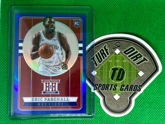 2019-20 Panini Chronicles Blue #558 Eric Paschall/Hometown Heroes Optic #50/99