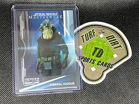2019 Star Wars Masterwork Heroes of the Rebellion Rainbow Foil #HR14 ADMIRAL RADDUS #95/299