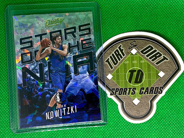 2017-18 Prestige Stars of the NBA Crystal #10 Dirk Nowitzki