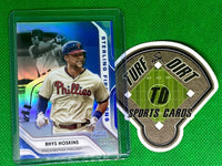 2020 Bowman Sterling Sterling First Signs Blue Refractors #SFSRH Rhys Hoskins #16/25