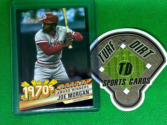 2020 Topps Decades' Best Series 2 Black #DB35 Joe Morgan #249/299