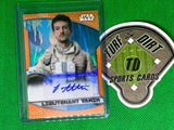 2020 Star Wars Chrome Perspectives Resistance vs. First Order Resistance Autographs Gold Refractors #AJA Josef Altin as Lieutenant Vanik #44/50