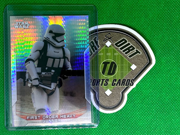 2020 Star Wars Chrome Perspectives Resistance vs. First Order Prism Refractors #38R First Order Heavy Gunner #152/299