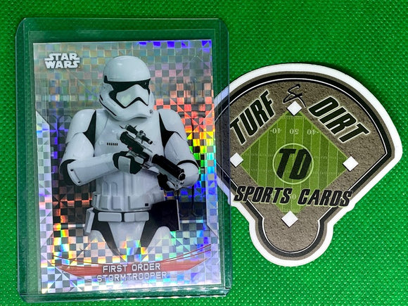 2020 Star Wars Chrome Perspectives Resistance vs. First Order X-Fractors #30F First Order Stormtrooper #12/99