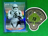2020 Star Wars Chrome Perspectives Resistance vs. First Order Blue Refractors #30F First Order Stormtrooper #16/150