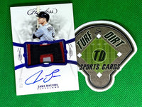 2019 Panini Flawless Rookie Patch Autographs Sapphire #6 Jake Bauers #3/15