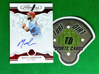 2019 Panini Flawless Autographs Ruby #17 Matt Carpenter #15/20