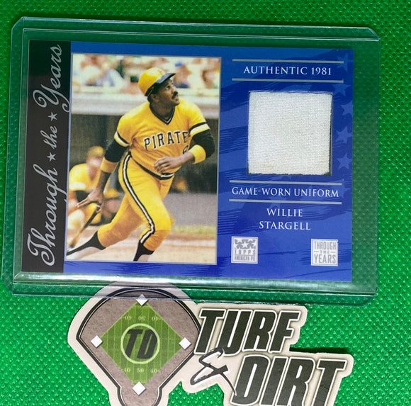 2002 Topps American Pie Through the Years Relics #WS Willie Stargell Uniform GAME USED