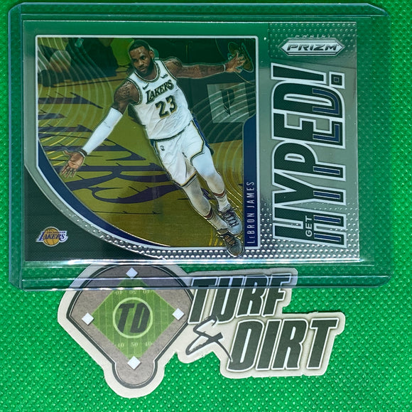 2019-20 Panini Prizm Get Hyped! #2 LeBron James