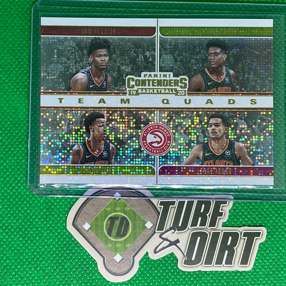 2019-20 Panini Contenders Team Quads #1 Cam Reddish/De'Andre Hunter/Trae Young/John Collins