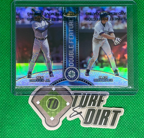 1999 Finest Double Feature Dual Refractors #DF1 Ken Griffey Jr./Alex Rodriguez