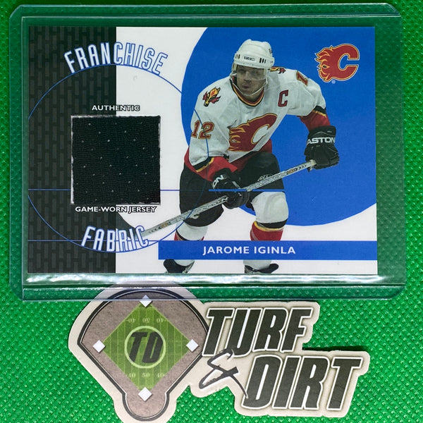 2003-04 Topps Traded Franchise Fabrics #FFJI Jarome Iginla GAME USED