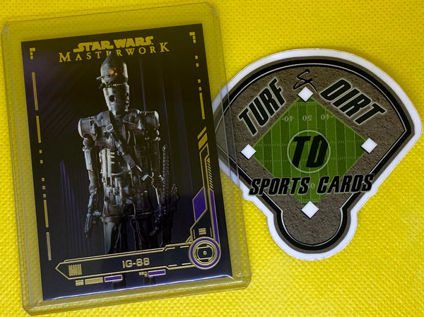 2019 Star Wars Masterwork Purple #21 IG-88 #12/50