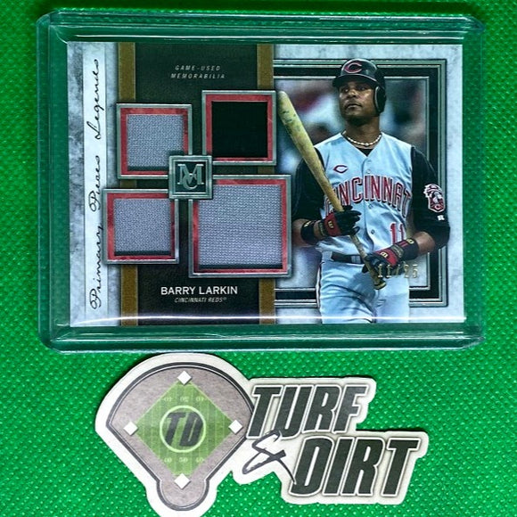 2020 Topps Museum Collection Primary Pieces Quad Relics Legends #SPQLBL Barry Larkin #11/25