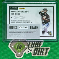 2020 Absolute Tools of the Trade Triple Swatch Signatures Spectrum Silver #2 Ronald Bolanos 45/75