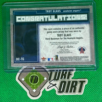 2003 Flair Diamond Cuts Jersey #TG Troy Glaus GAME USED