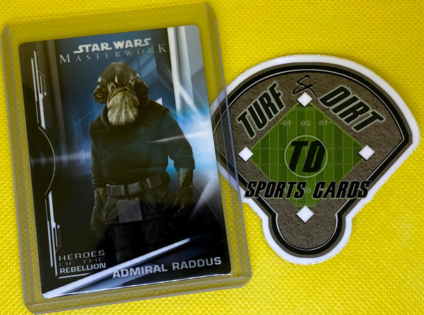 2019 Star Wars Masterwork Heroes of the Rebellion Metal #HR14 ADMIRAL RADDUS Hand Numbered #5/5