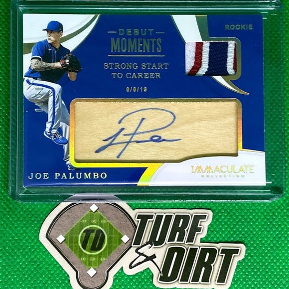 2020 Immaculate Collection Debut Moments Memorabilia Autographs Gold #10 Joe Palumbo #4/10