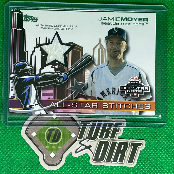 2004 Topps All-Star Stitches Jersey Relics #JM Jamie Moyer GAME USED