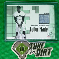 2001 Fleer Legacy Tailor Made #5 Orlando Cepeda GAME USED