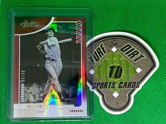 2020 Absolute Spectrum Red #51 Ted Williams #85/99