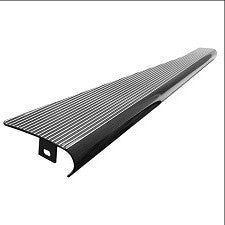 VW Bug And Super Beetle Gloss Black With Polished Ribs Imported Aluminum Running Boards
