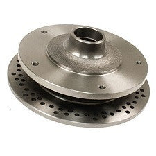 VW Bug, Ghia And Thing 1958 - 1977 Front Cross Drilled Disc Brake Replacement Rotors, Wide 5 Lug Pattern