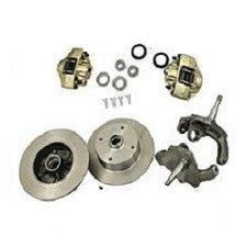VW Bug And Ghia 1966 - 1977 Front Disc Brake Kit Ball Joint VW 4 On 130 Pattern With 2.5 Inch Drop Spindles
