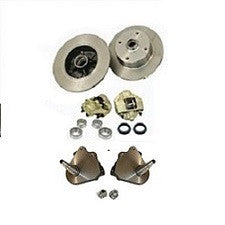 VW Bug And Ghia 1958 to 1965 Front Disc Brake Kit Link Pin VW 4 Lug, Porsche, And Chevy Patterns With 2.5 Inch Drop Spindles