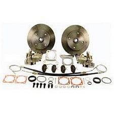 VW Bug, Super Beetle And Ghia 1968 to 1972 IRS (Long Or 1968 w/Swing Axle) Rear Disc Brake Kits VW 4 Lug, Porsche And Chevy Patterns With Emergency Brake